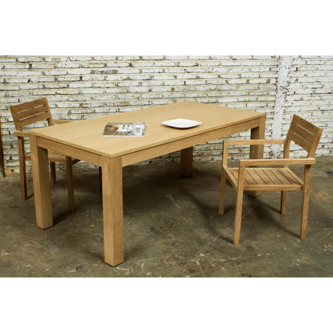 Table A Manger Extensible Chene Massif 90x180 235 Cochran 3 Suisses