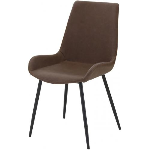 3S. x Home - Chaise Marron RICK - Meuble & Déco