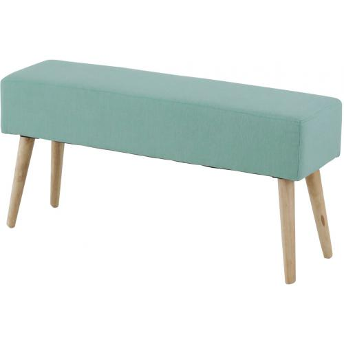 3S. x Home - Banc Scandinave Turquoise MALLORY - Promo Meuble & Déco