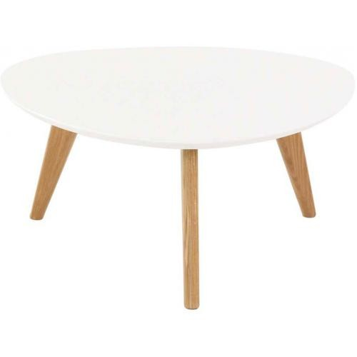 3S. x Home - Table Basse Ronde Blanche AGATIA - Table basse