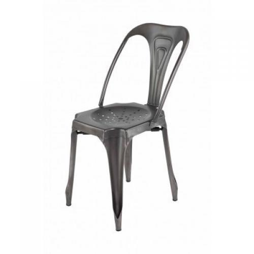 chaise industrielle m tal kirk 3suisses. Black Bedroom Furniture Sets. Home Design Ideas