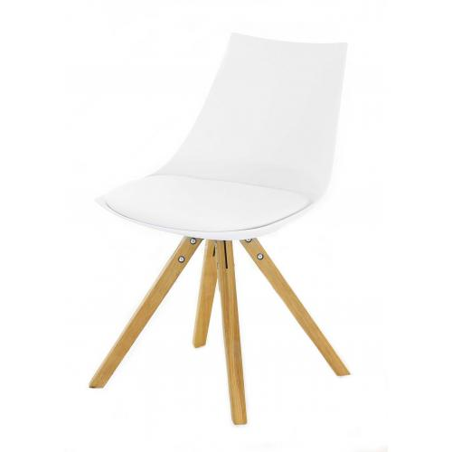 3S. x Home - Chaise Scandinave Blanche TURIN - Meuble & Déco