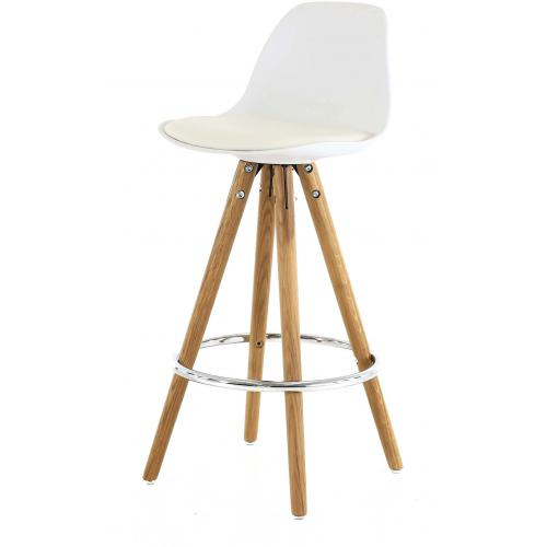 3S. x Home - Tabouret de Bar Scandinave Blanc UMA - 3S. x Home meuble & déco