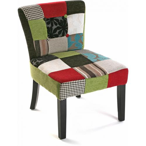 3S. x Home - Chaise Patchwork Multicolore LEON - Chaise