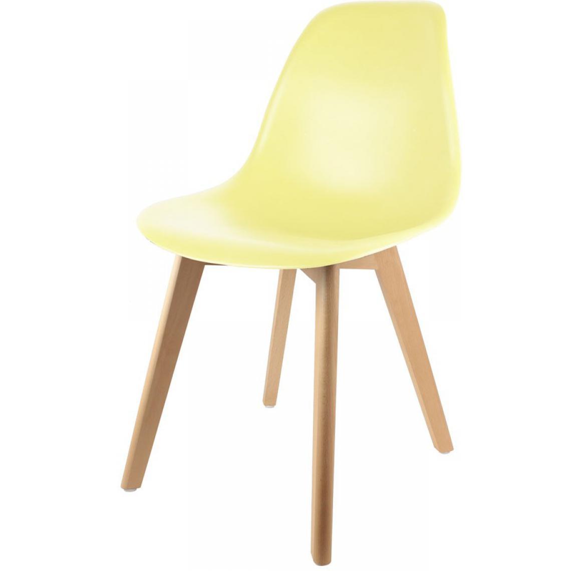 chaise scandinave coque jaune pastel fjord 3suisses. Black Bedroom Furniture Sets. Home Design Ideas