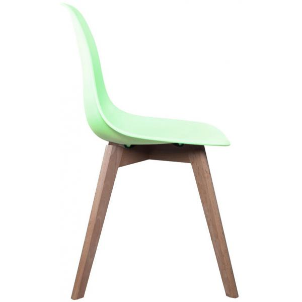 Chaise Scandinave Coque Vert Pastel ORKNEY 3Suisses