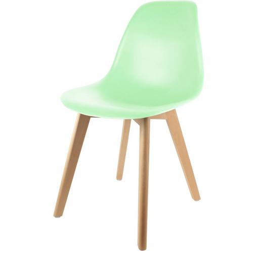 Chaise Scandinave Coque Vert Pastel ORKNEY