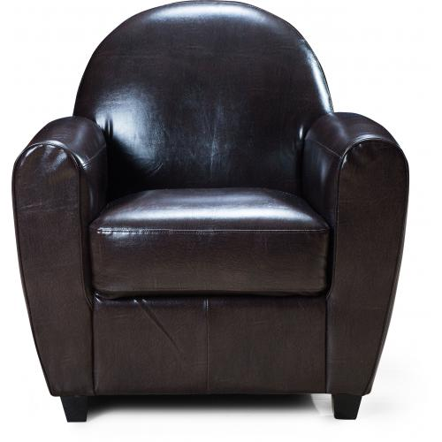 3S. x Home - Fauteuil Club Marron LIBBY - Fauteuil