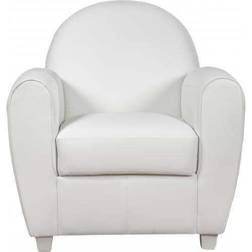 3S. x Home - Fauteuil Club Blanc LIBBY - Fauteuil