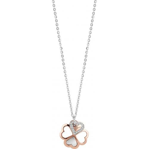 Guess Bijoux - Collier et pendentif Guess One.Of.A.Kind UBN83003 - Collier et pendentif Trèfle Or Rose