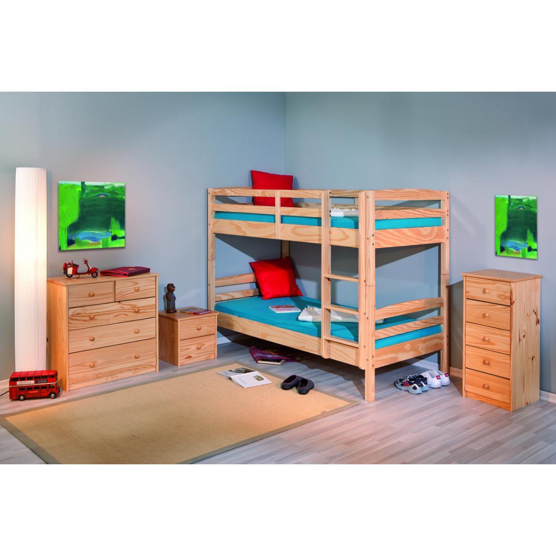 lits superposés séparable bois 90x190 mick  3 suisses
