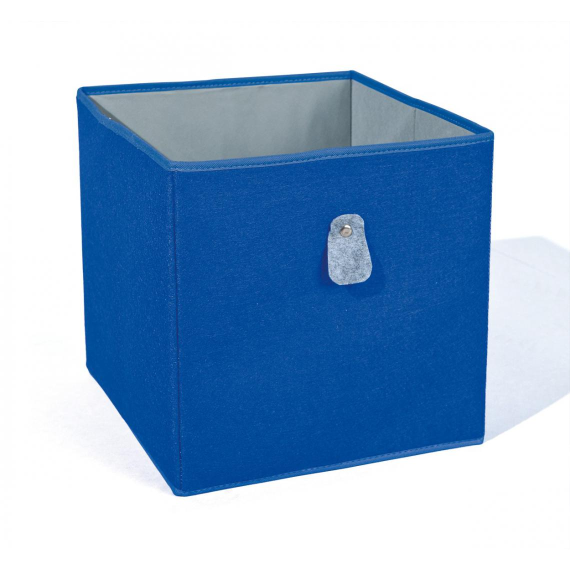 Boite De Rangement Bleue et Grise JOLLY   3 SUISSES