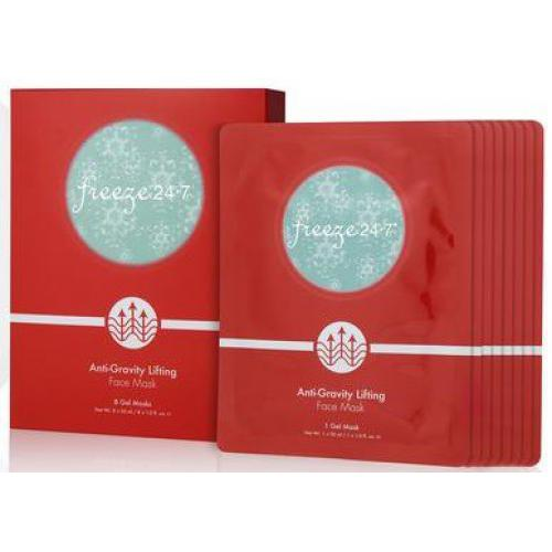 Freeze 24.7 - Boite de 8 Masques Visage Anti-Gravity Lifting - Anti-Rides - Beauté