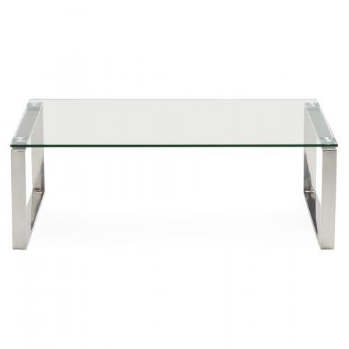3S. x Home - Table Basse En Verre Transparent WISCONSIN - Table basse