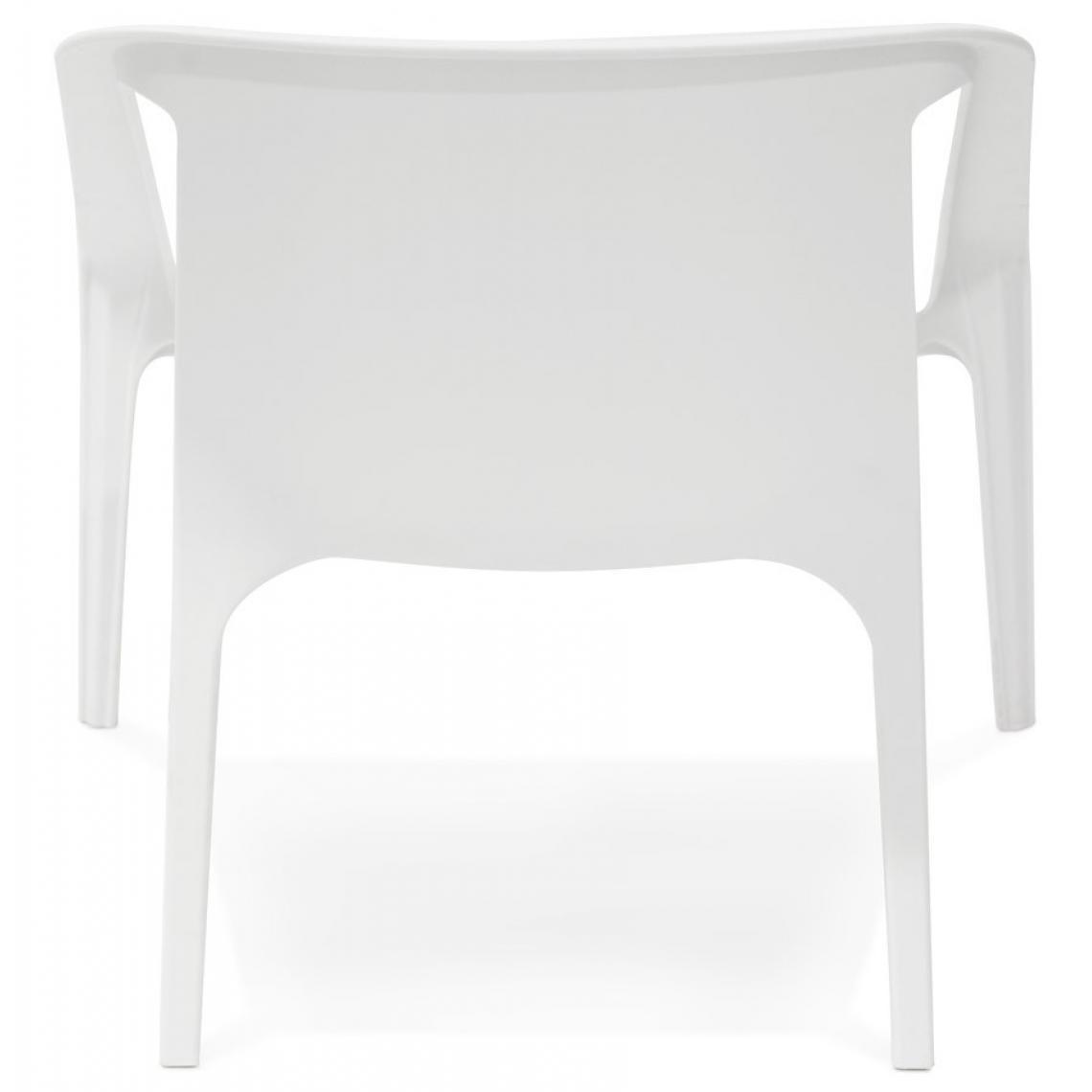 Fauteuil De Jardin En Plastique Blanc ACOMA | 3 SUISSES