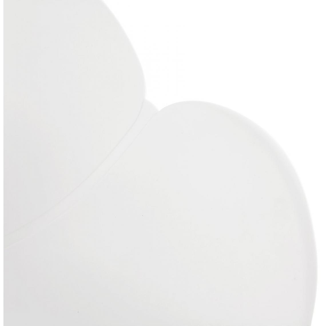 Fauteuil à Bascule En Plastique Blanc ANNIE hB9aD