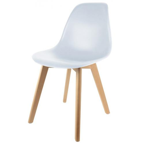 3S. x Home - Chaise Enfant Scandinave Blanc BABY FJORD - Chaise, tabouret, banc