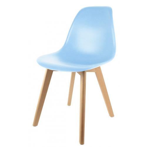 3S. x Home - Chaise Enfant Scandinave Bleue BABY ORKNEY - Chaise, tabouret, banc
