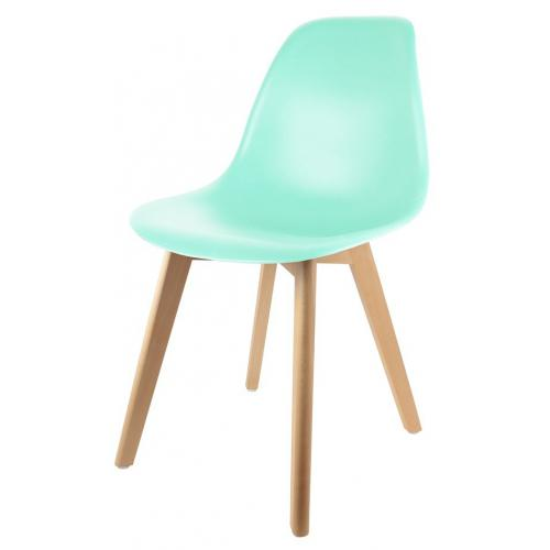 3S. x Home - Chaise Enfant Scandinave Verte BABY ORKNEY - Scandinave
