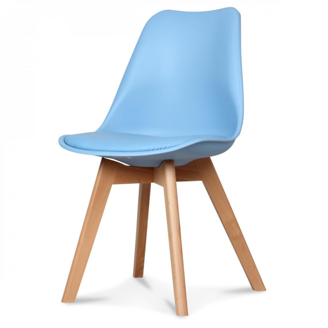 chaise design style scandinave bleu clair esben 3 suisses. Black Bedroom Furniture Sets. Home Design Ideas