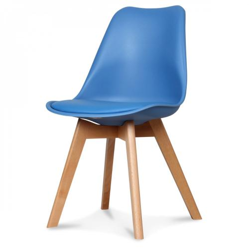 3S. x Home - Chaise Design Style Scandinave Bleu HADES - Chaise