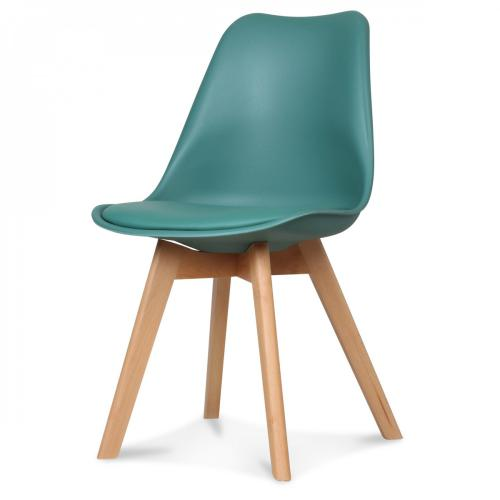 3S. x Home - Chaise Design Style Scandinave Vert Pin HADES - Chaise