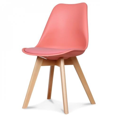 3S. x Home - Chaise Design Style Scandinave Corail HADES - Meuble & Déco