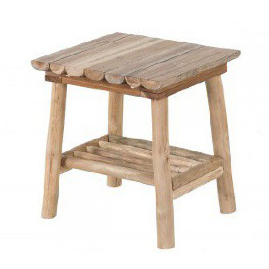 Table d\'Appoint Rustique En Bois Massif SILVEST