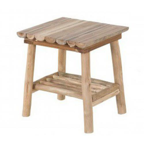 3S. x Home - Table d'Appoint Rustique En Bois Massif SILVEST - Le salon