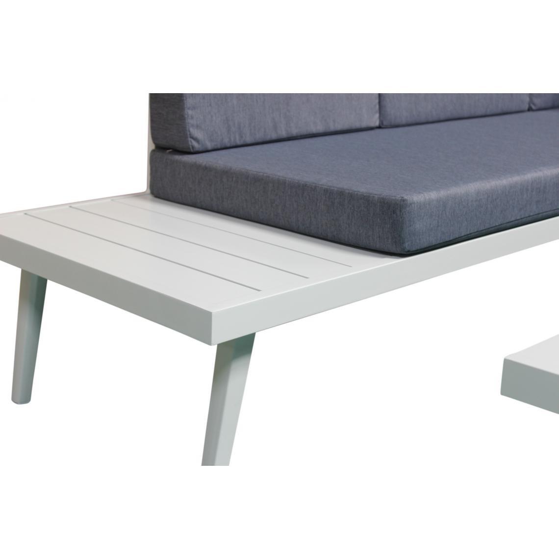 Salon de Jardin En Aluminium Blanc et Bleu ANASTASIA | 3 SUISSES
