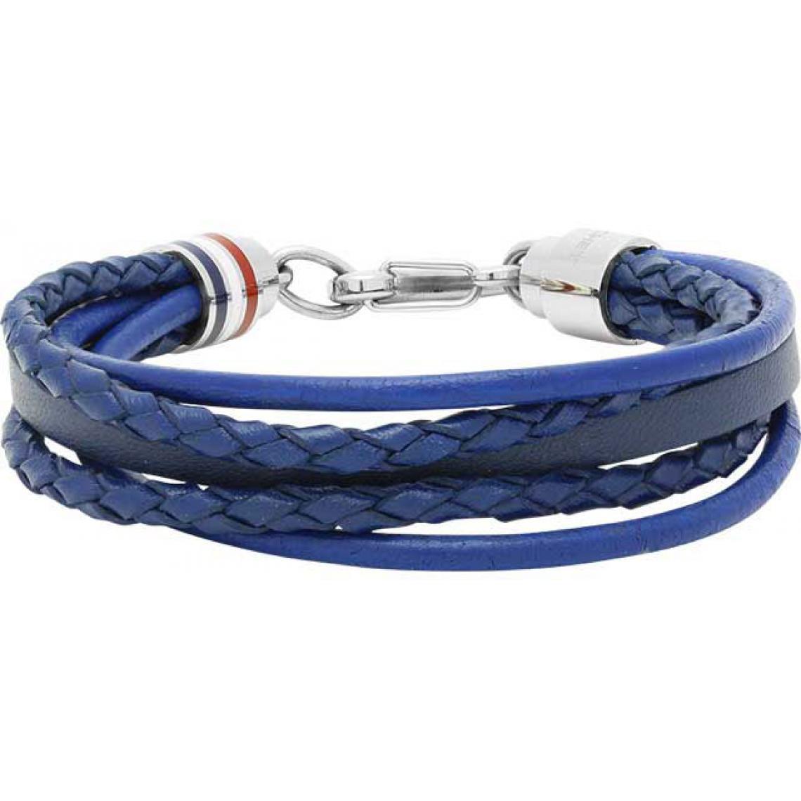 Promo : Bracelet Rochet Flibustier B361360 - Bracelet Multitour Bleu Cuir Rochet