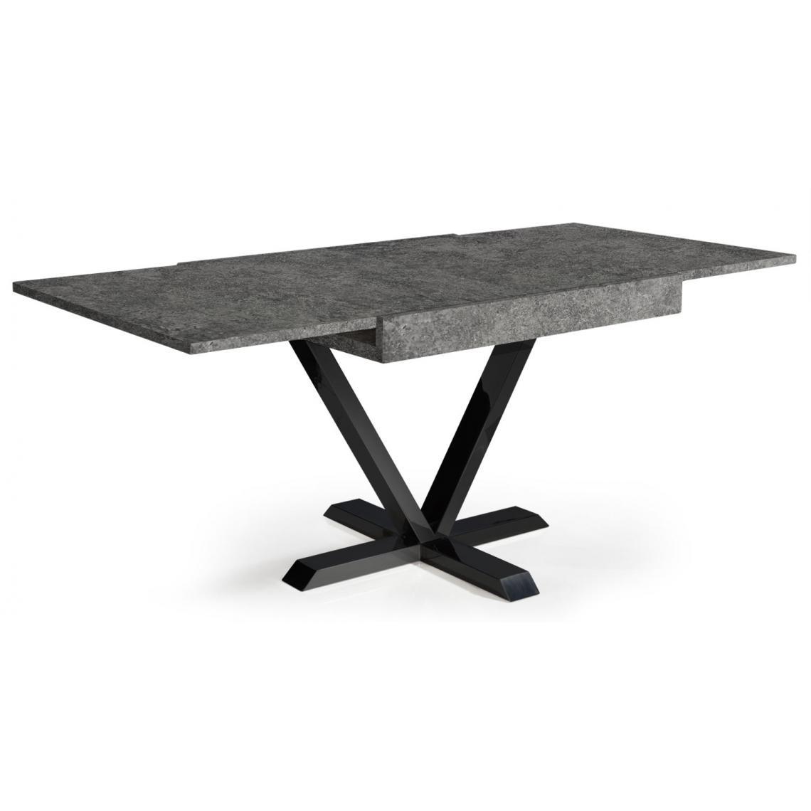 Table Basse Design Rétractable Effet Béton Gris WELL | 3 SUISSES
