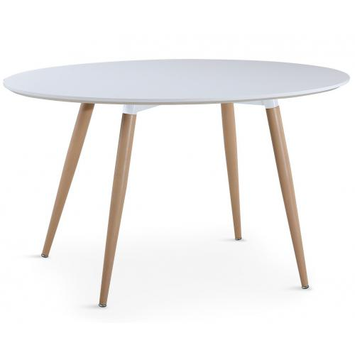 3S. x Home - Table Ovale Scandinave Blanche WAEL - Table