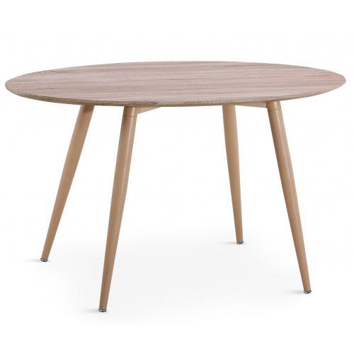 Table Ovale Scandinave Effet Chêne Wael 3 Suisses