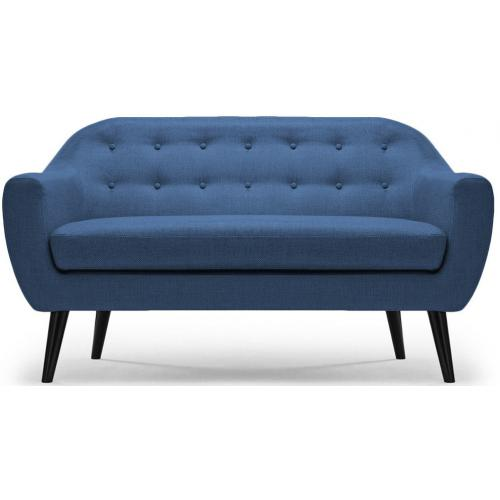 3S. x Home - Canap? scandinave 3 places tissu Bleu ANTONY - Scandinave