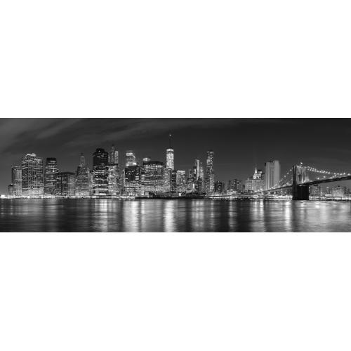 3S. x Home - Tableau Cities New York By Night 90x30 - La déco