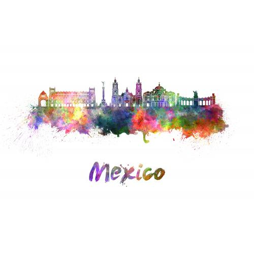 3S. x Home - Tableau Cities Mexico 80x55 - Meuble & Déco