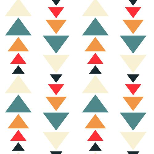3S. x Home - Tableau Pattern Triangles Colorés 80x80 - La déco