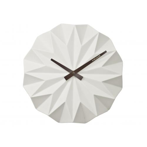 3S. x Home - Horloge Murale Style Origami Blanche HIMALIA - Toutes les Promos
