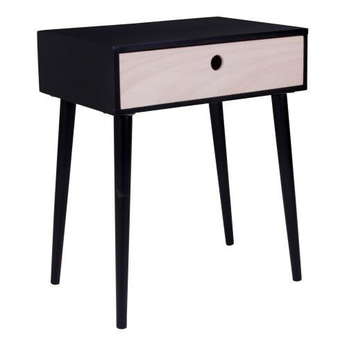 House Nordic - Table De Chevet Scandinave Noire PARMA - Table de chevet