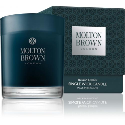 Molton Brown - Bougie Russian Leather - 180g - Beauté