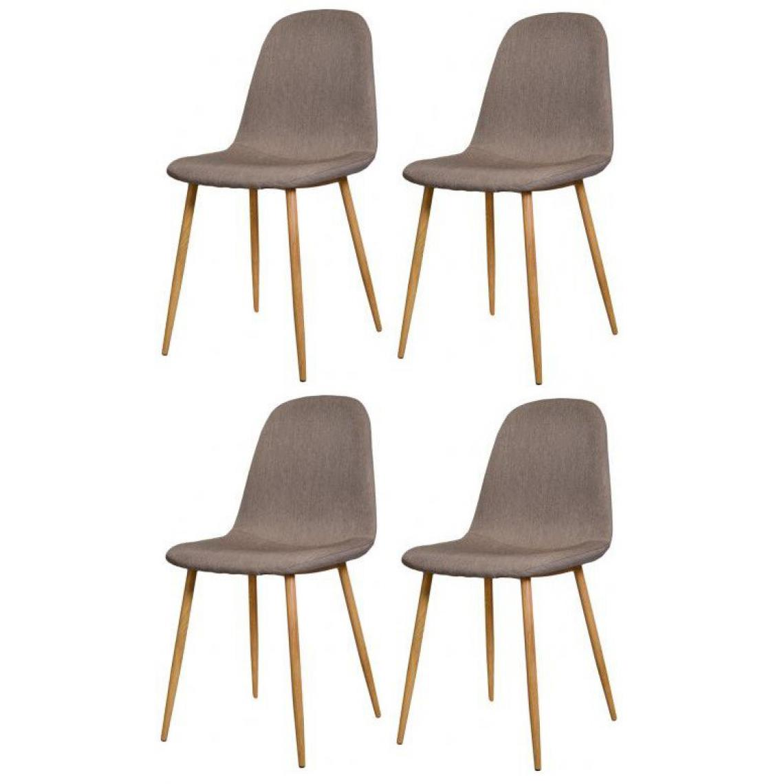 lot de 4 chaises scandinaves beige hamar 3suisses. Black Bedroom Furniture Sets. Home Design Ideas