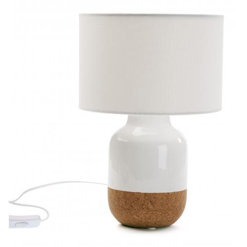 3S. x Home - Lampe De Table En Céramique Blanc TUSSORA - Lampe