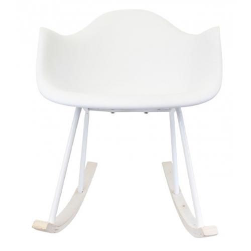 3S. x Home - Fauteuil A Bascule Blanc STYRKE - Fauteuil