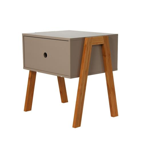 3S. x Home - Table de Chevet Empilable Taupe ICHIGO - Chambre adulte