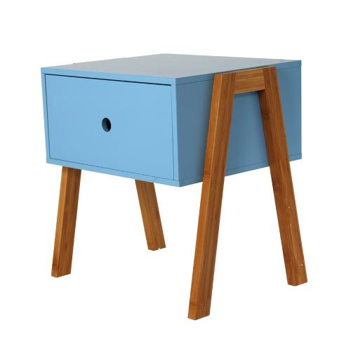 3S. x Home - Table de Chevet Empilable Bleu ICHIGO - Chambre adulte