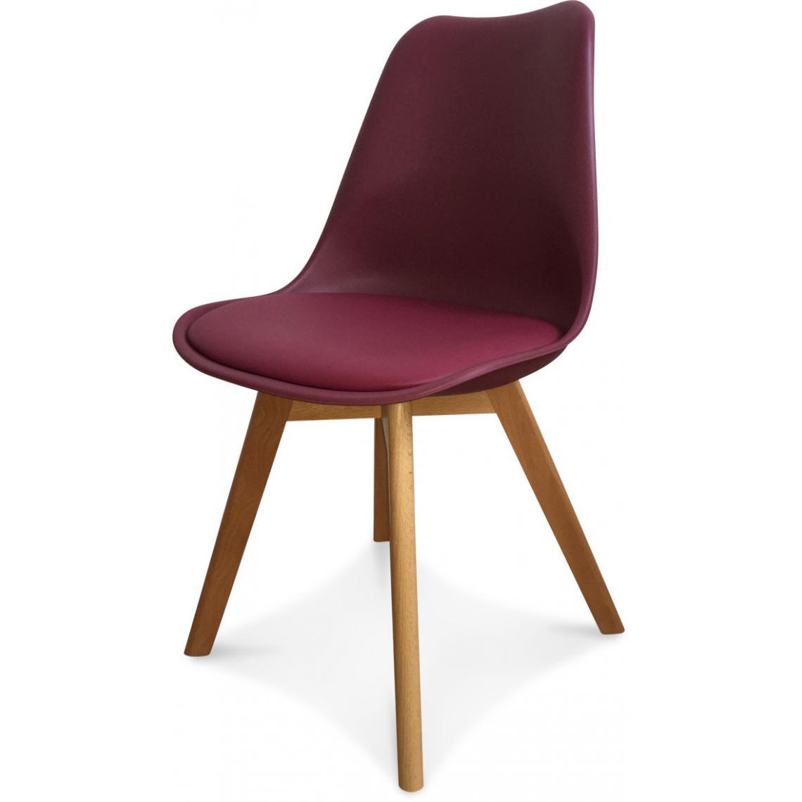 chaise design style scandinave bordeaux wine esben 3 suisses. Black Bedroom Furniture Sets. Home Design Ideas