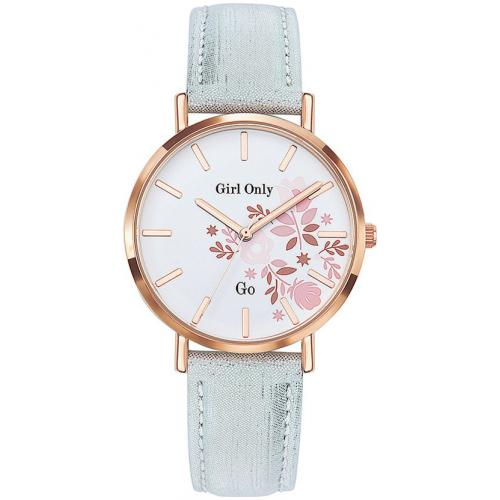 Go Girl Only - Montre Go Girl Only 699006 - Montre Cuir Argent Femme
