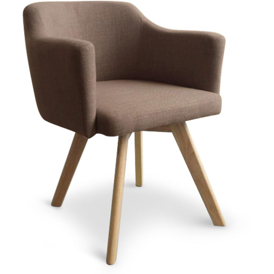 Fauteuil Scandinave Taupe LAYAL