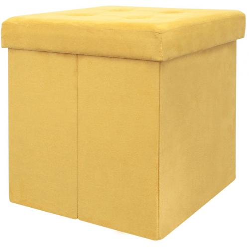 3S. x Home - Pouf Coffre Pliable Jaune EASY - Le salon